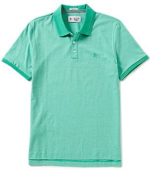 Original Penguin Feeder Stripe Short-Sleeve Polo Shirt