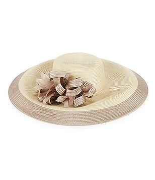 August Hats Hibiscus Wide-Brim Hat