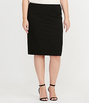 Lauren Ralph Lauren Plus Stretch Twill Pencil Skirt