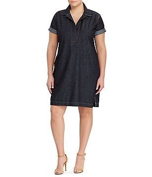 Lauren Ralph Lauren Plus Denim Shift Dress