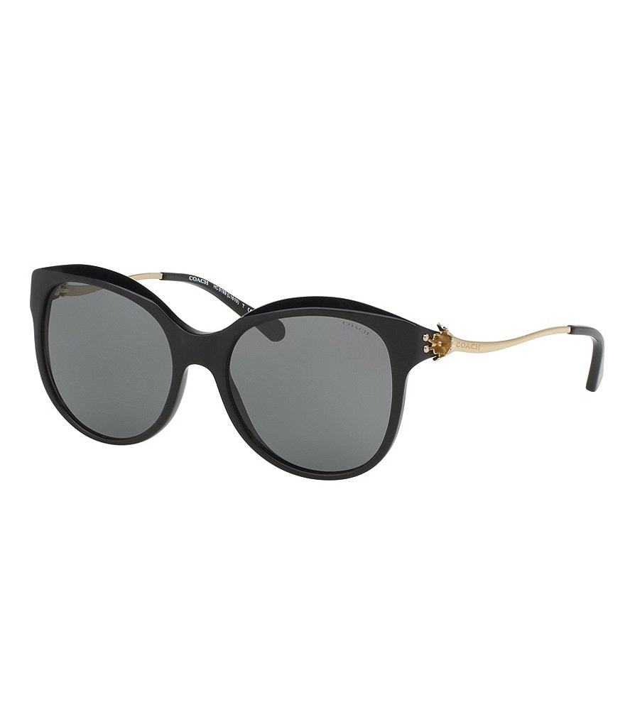 COACH TEA ROSE CAT-EYE SUNGLASSES