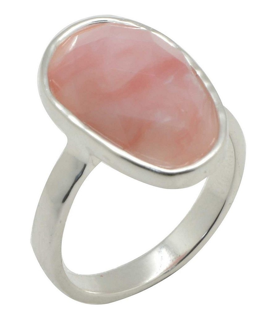 Calvary Sterling Silver & Opal Ring