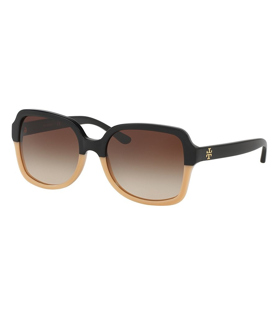 Tory Burch Panama Color Block Square Gradient Sunglasses