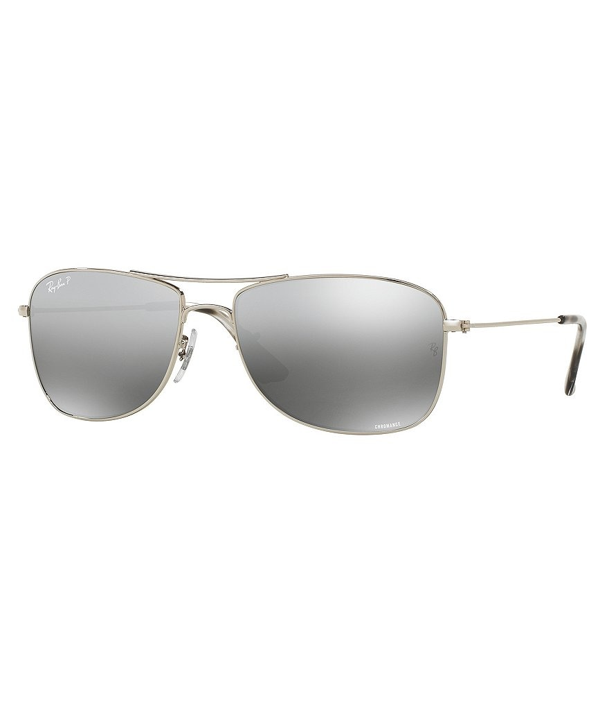 polarized mirrored aviator sunglasses  Ray-Ban Chromance Polarized Mirrored Aviator Sunglasses
