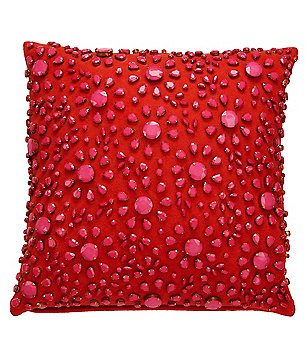 kate spade new york Yorkville Floral Burst Gemstone Square Pillow