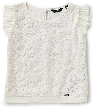 Marciano Big Girls 7-16 Flutter-Sleeve Lace Top