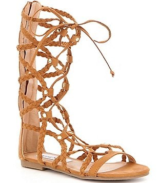 Steve Madden Girl´s Sammson Tall Lace Up Caged Gladiator Sandal