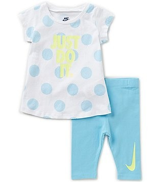 Nike Baby Girls 12-24 Months JDI Dotted Tee & Capri Pants Set