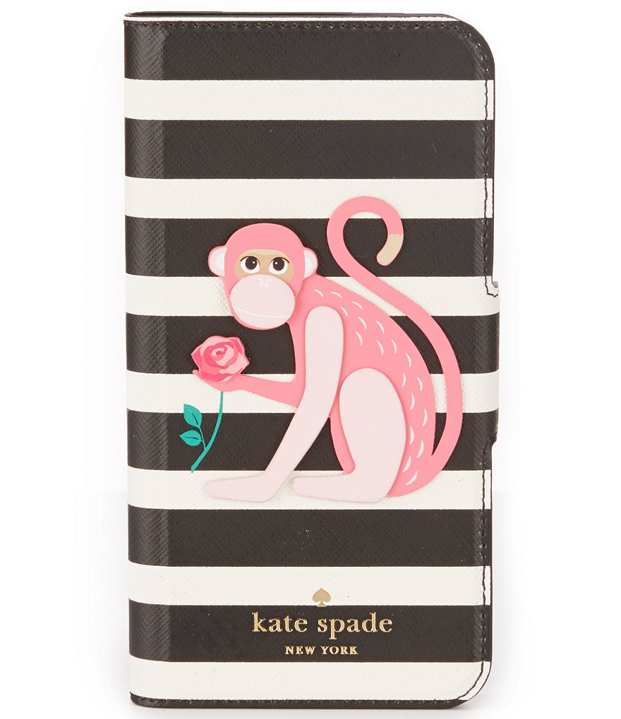 kate spade new york Striped Monkey Folio iPhone 7 Case