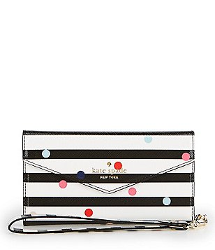 kate spade new york Striped Confetti Dot iPhone 7 Envelope Wrislet