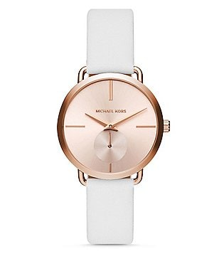 Michael Kors Portia Chronograph Leather-Strap Watch
