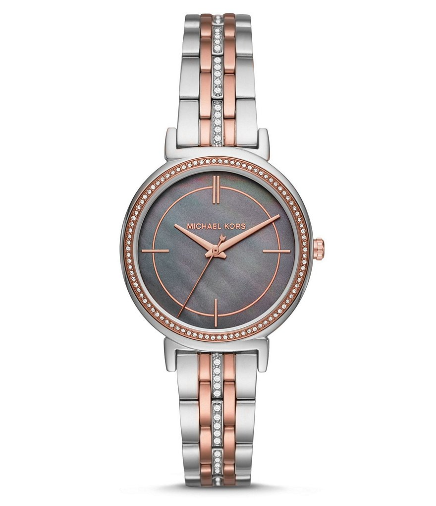 Michael Kors Cinthia Two-Tone Analog Bracelet Watch