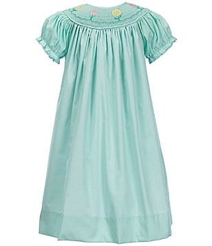 Marmellata Little Girls 2T-4T Short-Sleeve Embroidered Smocked Dress