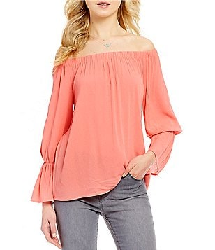 Sanctuary Charlotte Off-the-Shoulder Bell Sleeve Blouse