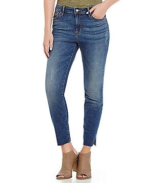 Sanctuary Kye Frayed Straight Ankle Jeans