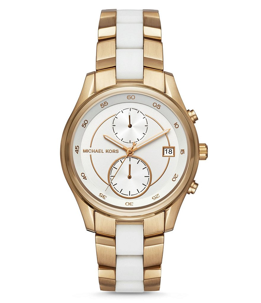 Michael Kors Briar Multifunction Silicone & Stainless Steel Watch