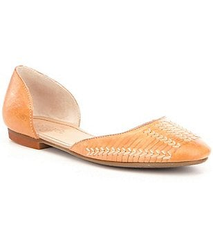 Latigo Mateo Leather Slip-On D´Orsay Almond Toe Flats