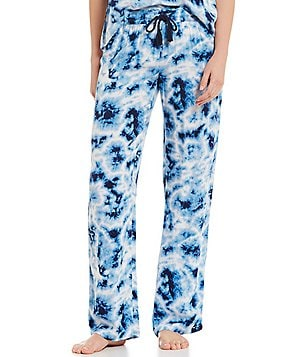 PJ Salvage Batik Tie-Dye Twill Sleep Pants
