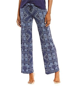 PJ Salvage Bandanna-Print Jersey Sleep Pants