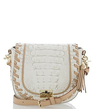 Brahmin Summer Dalton Collection Tasseled Whip-Stitched Mini Sonny Saddle Bag