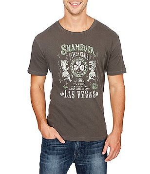 Lucky Brand Shamrock Poker Short-Sleeve Crewneck Graphic Tee