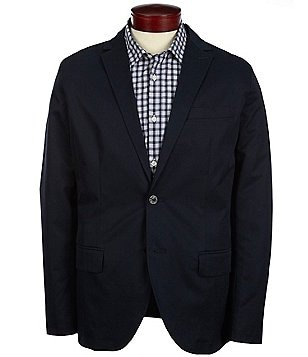 Nautica Notch Collar Cotton Twill Blazer