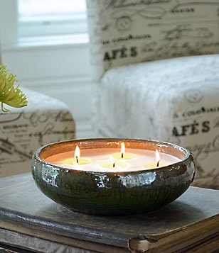 FlashPoint Candle Artisan Saxon Rustic Woods Multi-Wick Pottery Candle