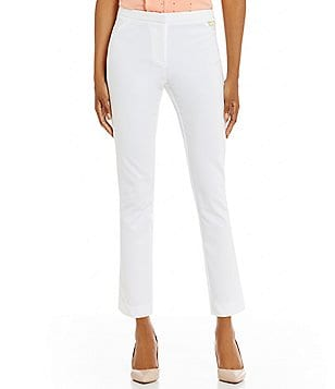 Calvin Klein Stretch Twill Tapered Straight-Leg Ankle Pants