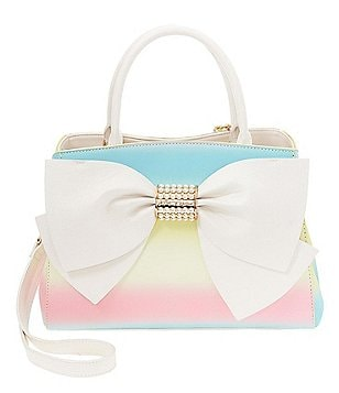 Betsey Johnson Pearl of A Girl Rainbow Bow Satchel
