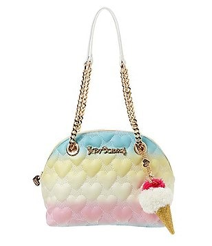 Betsey Johnson Split Decision Heart-Quilted Dome Satchel