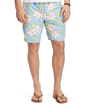 Polo Ralph Lauren Big & Tall Floral Traveler Swim Trunks