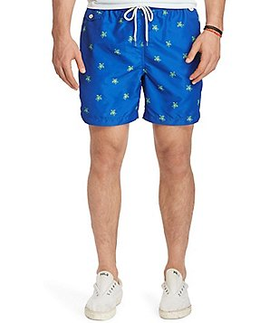 Polo Ralph Lauren Big & Tall Traveler Turtle Print Swim Trunks
