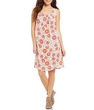 Sigrid Olsen Signature Floral Printed Shift Dress