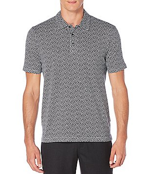 Perry Ellis Floral Print Polo Shirt