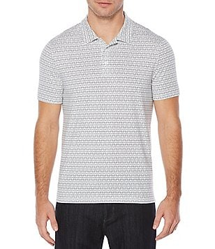 Perry Ellis Geo Print Pima Cotton Short-Sleeve Polo Shirt