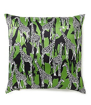 kate spade new york Giraffe Silk & Cotton Square Feather Pillow