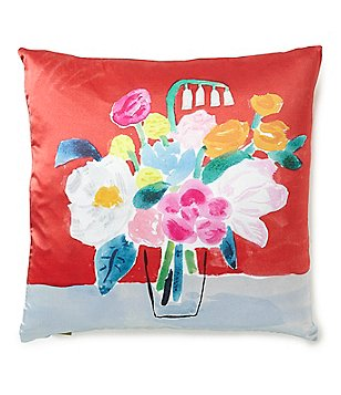 kate spade new york Floral Bouquet Silk & Cotton Square Feather Pillow