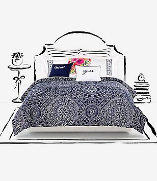kate spade new york Eyelet Cotton Twill Comforter Mini Set