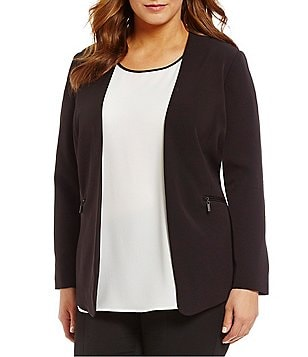 Vince Camuto Plus Open Zip Pocket Jacket