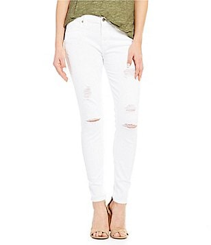 7 For All Mankind The Ankle Skinny Distressed Jeans