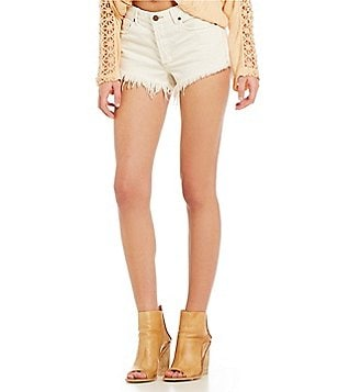 Free People Soft & Relaxed Cut Off Denim Shorts