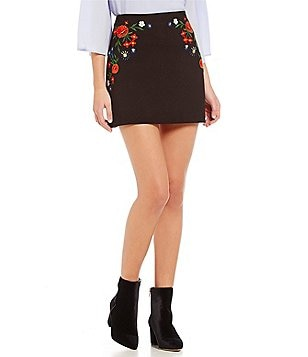 French Connection Margritte Embroidered Skirt