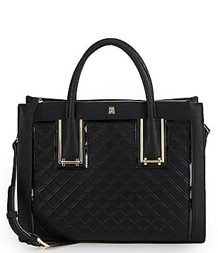 Antonio Melani Lattice-Detail Satchel