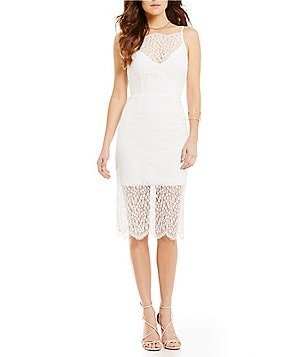 Keepsake Daydream Lace Midi Dress