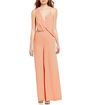 Keepsake Without You Draped Surplice Sleeveless Jumpsuit