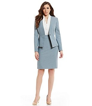 Antonio Melani Felicity Stretch Melange Jacket & Denzel Stretch Melange Pencil Skirt