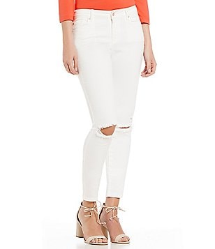 Armani Exchange Ripped White Skinny Jeans