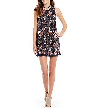 Angie Floral-Printed Ruffle Back Shift Dress
