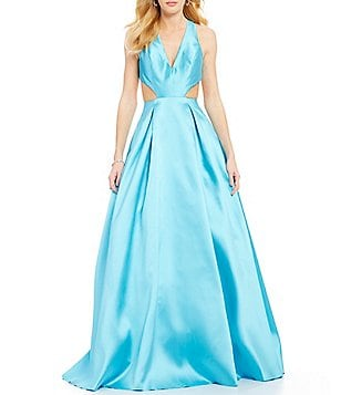 JVN by Jovani V-Neck Cut-Out Ball Gown