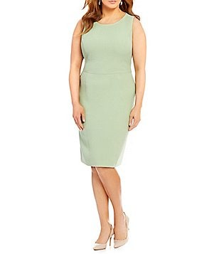 Kasper Plus Empire Sheath Sleeveless Dress